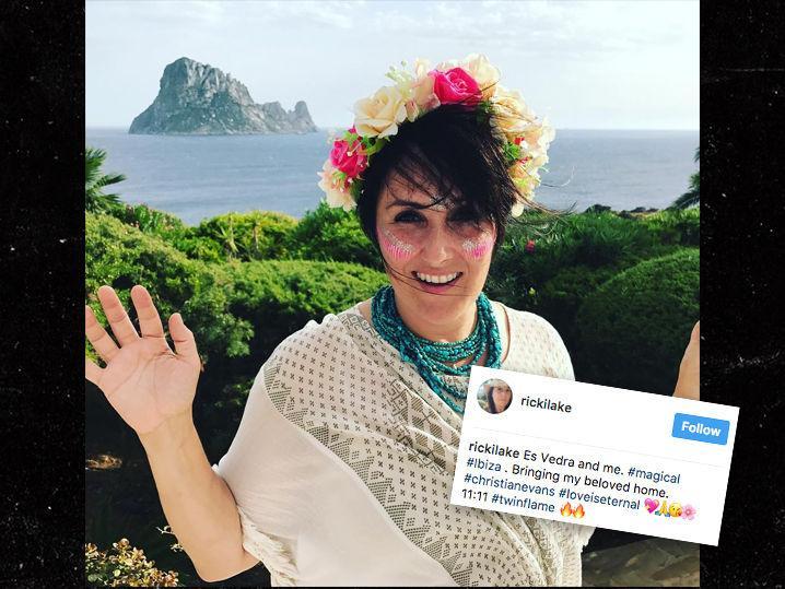 Ricki Lake Returns to Ibiza to Spread Ex-Husband Christian Evans' Ashes