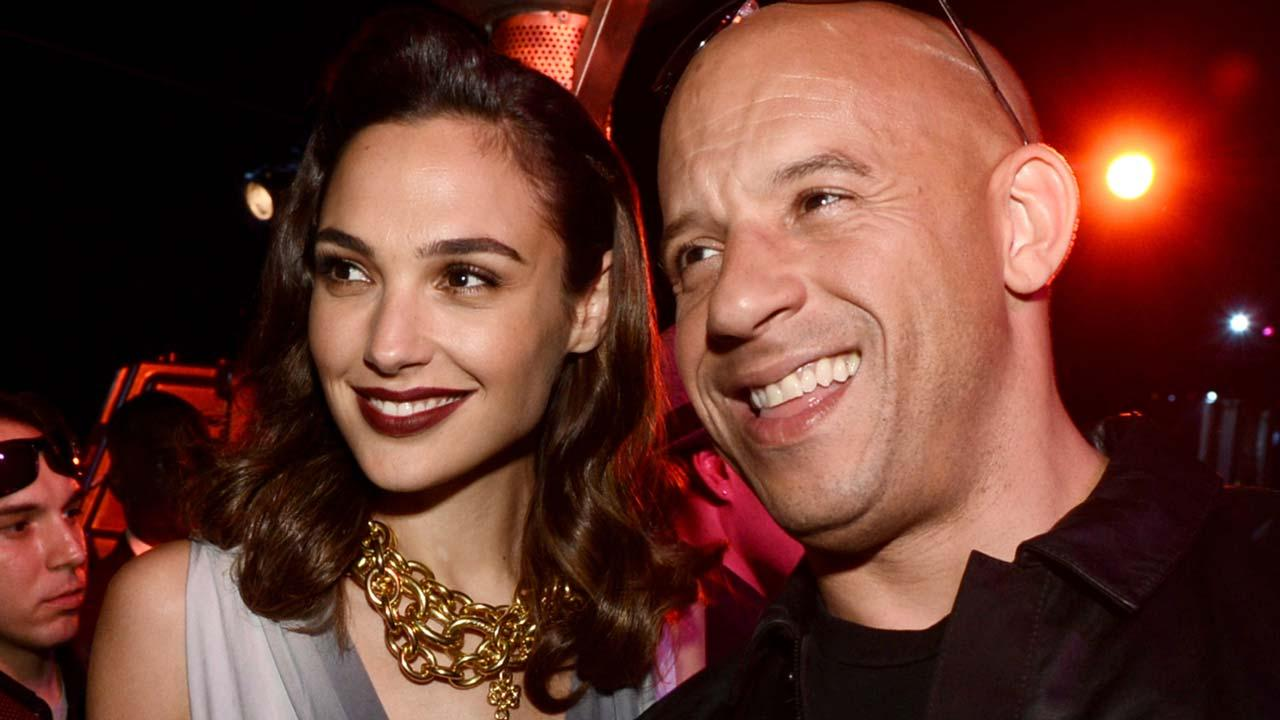 Gal Gadot & Vin Diesel Have a Mini 'Fast & Furious' Reunion With Their Daughters -- See the Cute Pic!