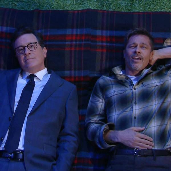 Brad Pitt Answers Stephen Colbert's
