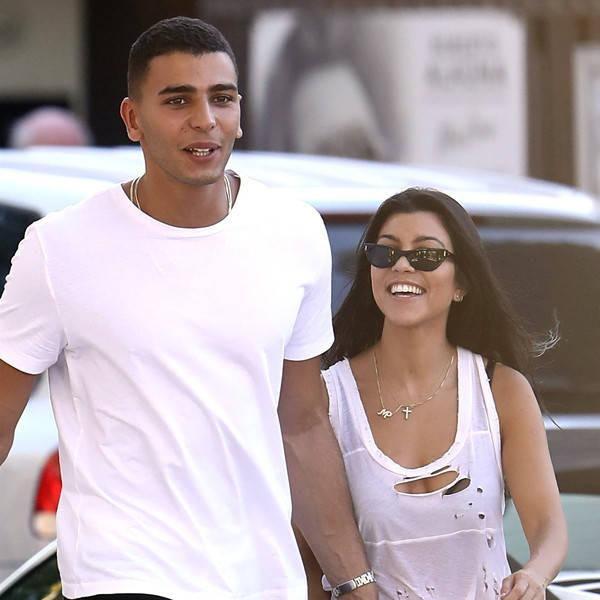 Kourtney Kardashian and Younes Bendjima Step Out Holding Hands During St. Tropez Trip