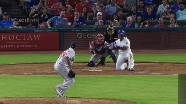 Fernando Abad's 62-mph pitch was so unexpected, Adrian Beltre had to take a knee