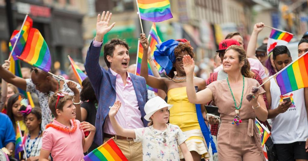Please stop sharing photos of Justin Trudeau at Pride, it's making the world jealous