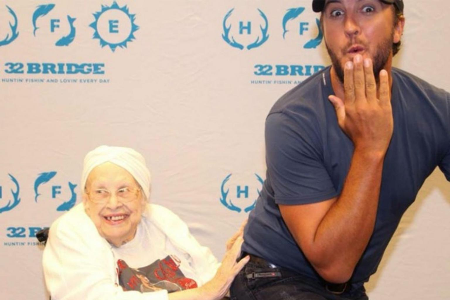 Luke Bryan Finally Breaks His No Butt-Touching Rule for 88-Year-Old Terminally Ill Fan