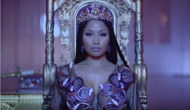 Nicki Minaj Takes The Throne In New Video For 'No Frauds', Featuring Drake, Lil Wayne