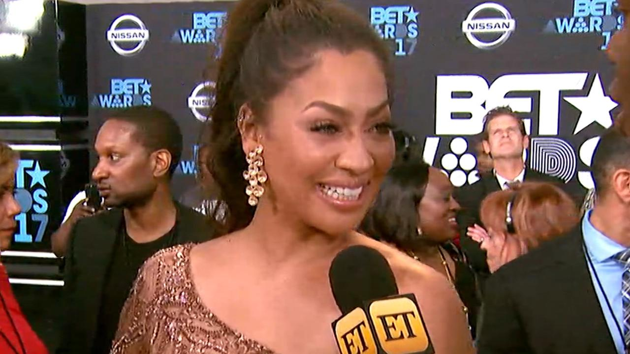 Exclusive: La La Anthony Walks Bet Awards Carpet With Adorable Son Kiyan, Talks Carmelo Split: 'We're Family'