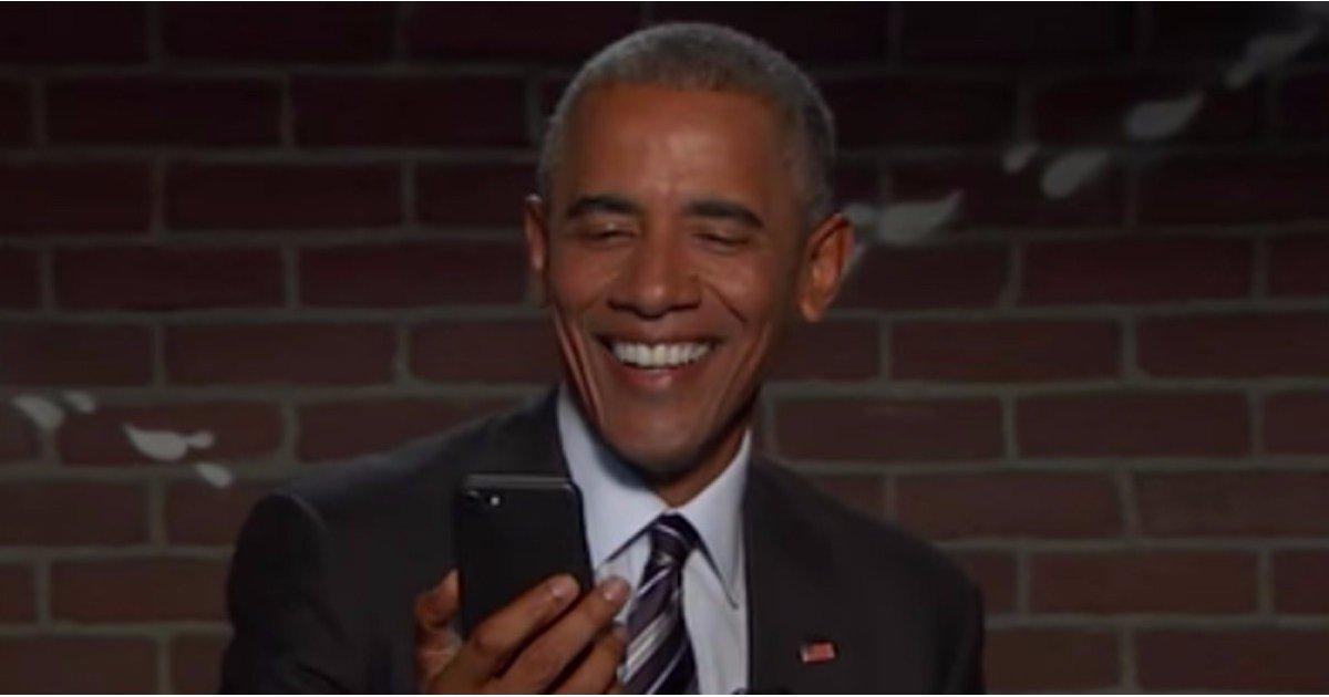 Barack Obama Responds to Donald Trump's Mean Tweet on Jimmy Kimmel Live