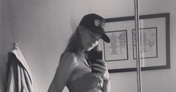 Behati Prinsloo Shares Photo of Her Baby Bump in a Bikini