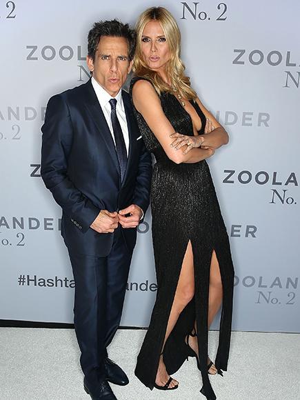 Ben Stiller Gives His Best 'Blue Steel' Face With Heidi Klum
