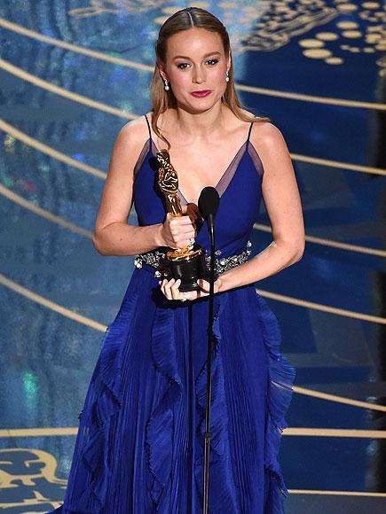 Brie Larson Wins 2016 Oscar for Best Actress for Room