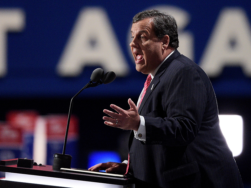 Chris Christie Whips Gop Convention Into Anti-Clinton Frenzy of Shouts: 'Guilty! Lock Her Up!'