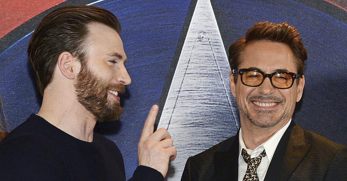 Chris Evans and Robert Downey Jr. Get Seriously Silly on the Red Carpet
