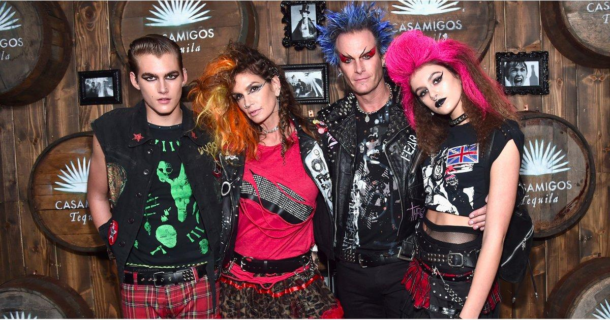 Cindy Crawford and Her Family Go Punk Rock For Their Star-Studded Halloween Bash