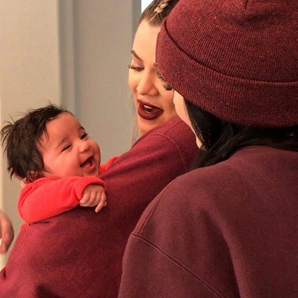 Dream Kardashian  's Smile Is Too Cute During Family Time with Aunts Khlo'  and Kylie