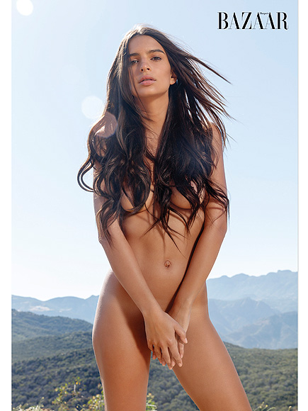 Emily Ratajkowski Poses Nude for Harper's Bazaar, Says There Shouldn't Be Just One 'Ideal' Body