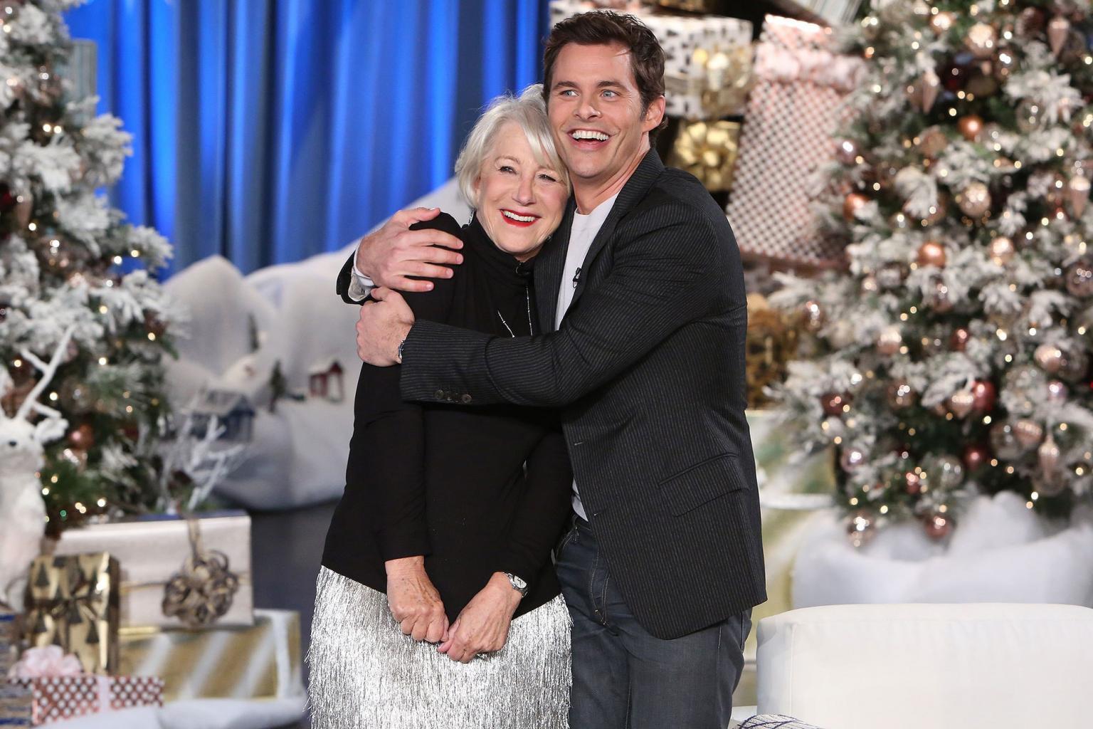 James Marsden Gets a Kiss from His Celebrity Crush Helen Mirren