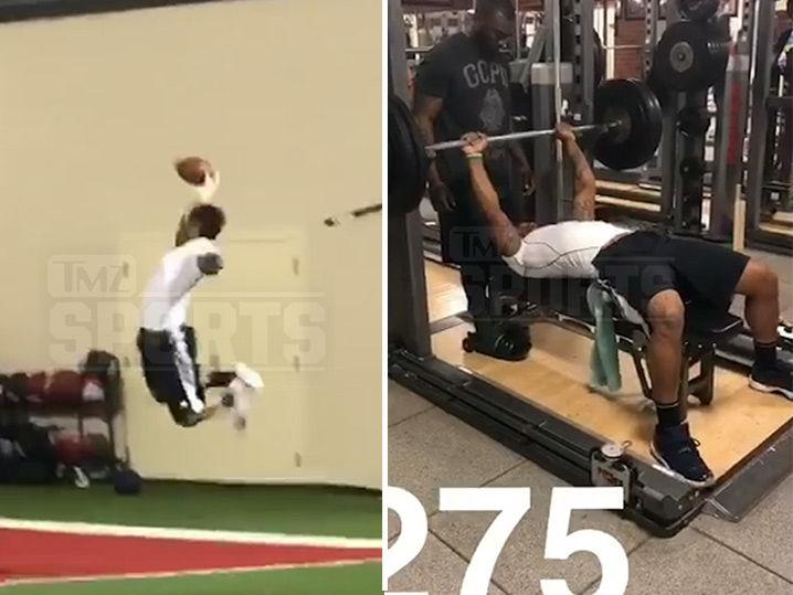 Joe Mixon NFL Draft Training -- 1-Handed Grabs and Crazy Speed (Video)