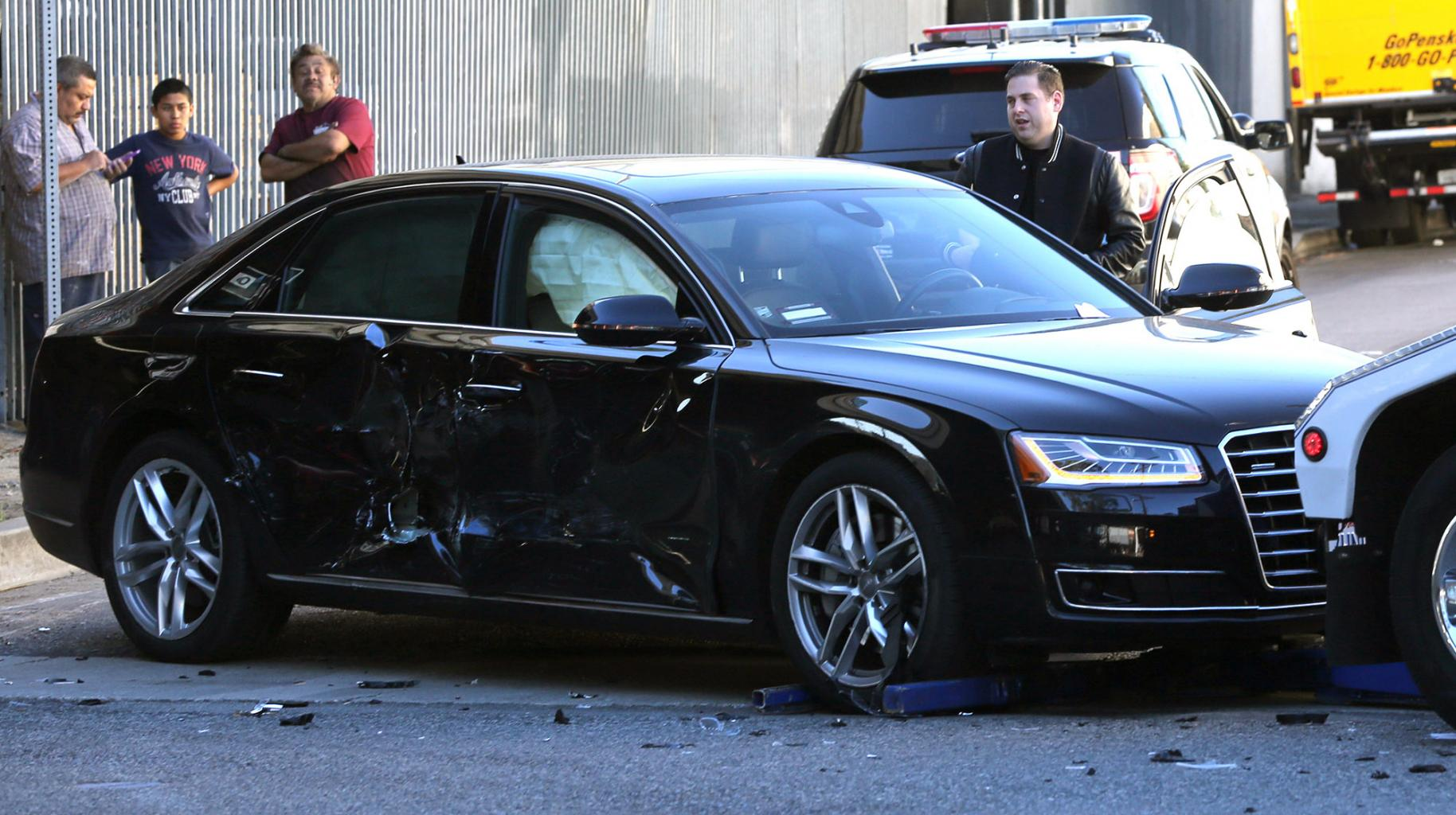 Jonah Hill Appeared 'Shaken' After Car Crash in Downtown Los Angeles