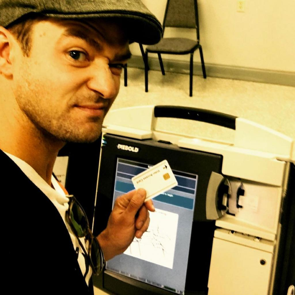 Justin Timberlake Cast His Ballot  '  and Commemorated the Moment with an Illegal Selfie