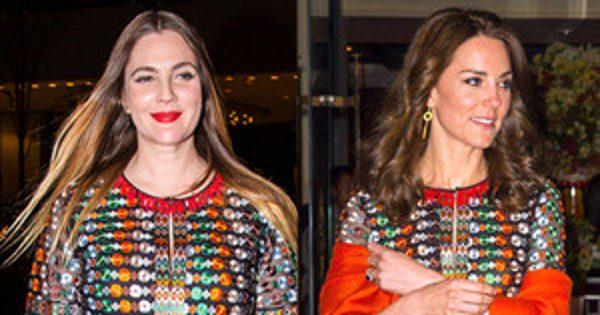 Kate Middleton's Dress D�j� Vu: Drew Barrymore Steps Out in
