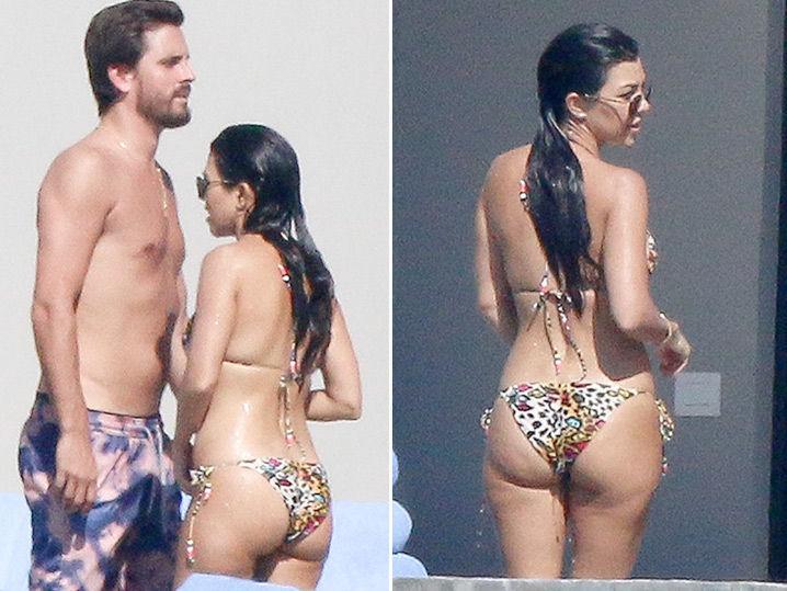 Kourtney Kardashian and Scott Disick -- Mi Butt es Su Butt When We're in Mexico (Photo Gallery)