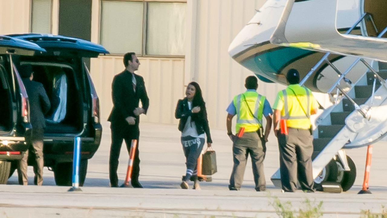 Kourtney Kardashian Sports Yeezy Gear, Shows Her Support for Kanye West After His Hospitalization