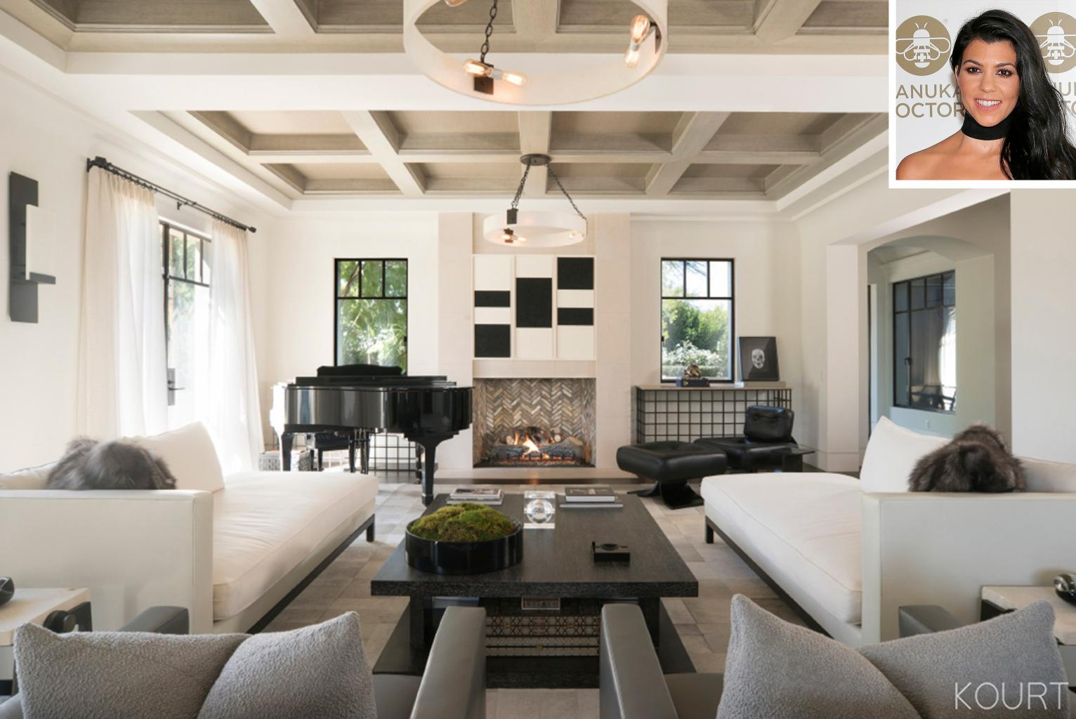 Kourtney Kardashian's Stunning Living Room Includes a Sentimental — and Huge — Present from Kris Jenner