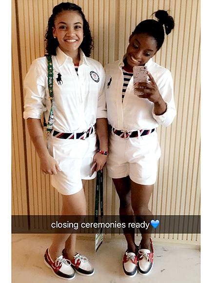 Laurie Hernandez Helps Simone Biles Prepare for Closing Ceremony by Ironing Her Clothes