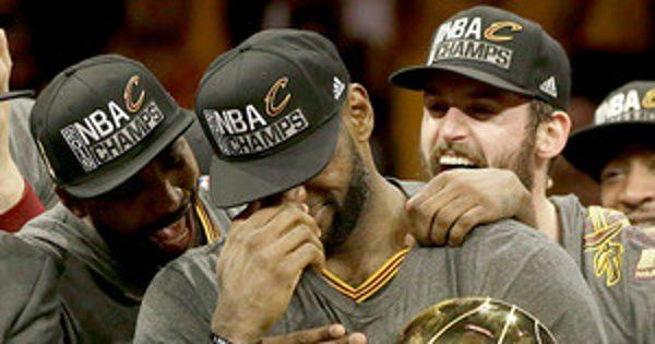 LeBron James Is Overcome With Tears After the Cleveland Cavaliers Win Game 7 of the NBA Finals