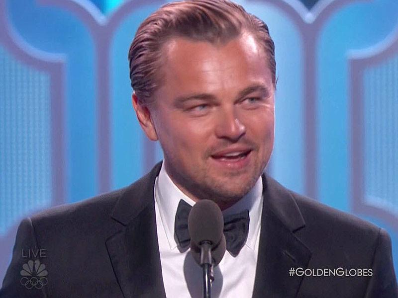 Leonardo DiCaprio Wins the Golden Globe for Best Actor in a