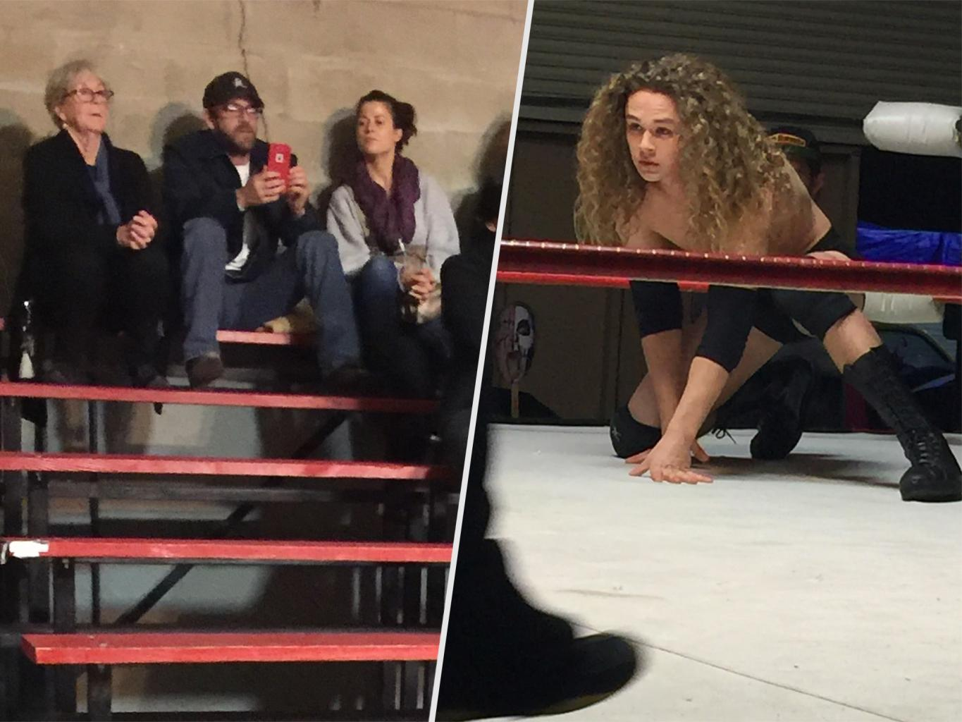 Luke Perry Attends Local Wrestling Event to Support His Son