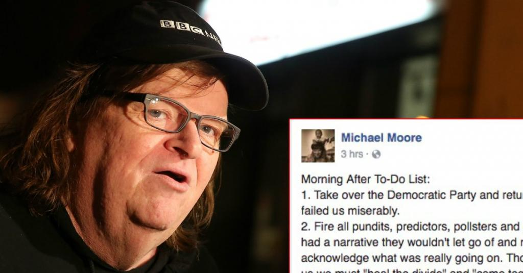 Michael Moore's 5-Point Plan Post Is Being Shared By 30,000 People An Hour