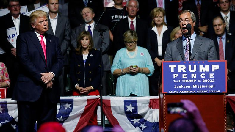 Stumping for Trump: Farage draws �parallels� between Brexit & GOP candidate at Mississippi rally