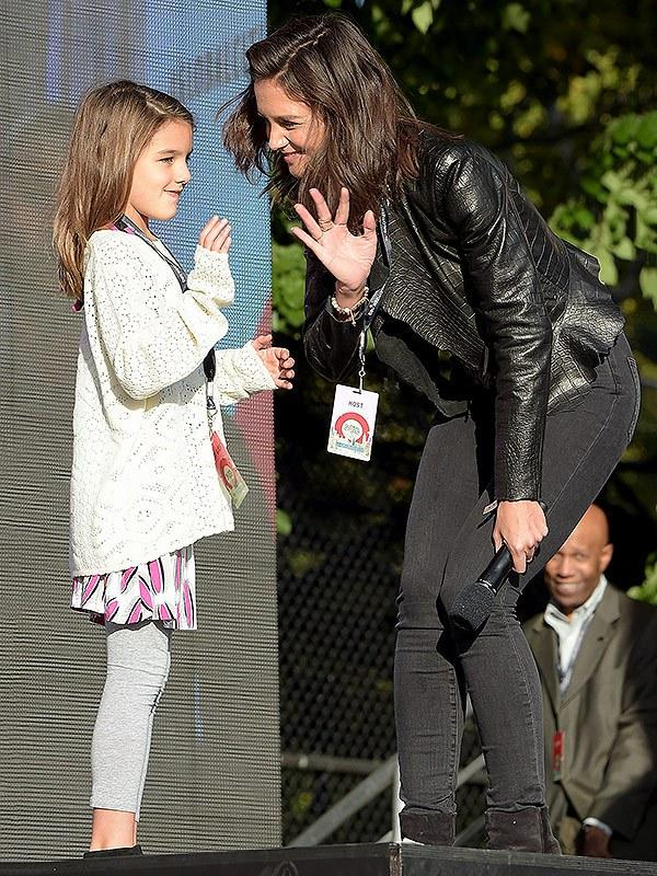 Take Your Daughter to Work! Suri Cruise Had Her Own Director  's Chair (and Got Primped!) on Set of Katie Holmes '  After Camelot