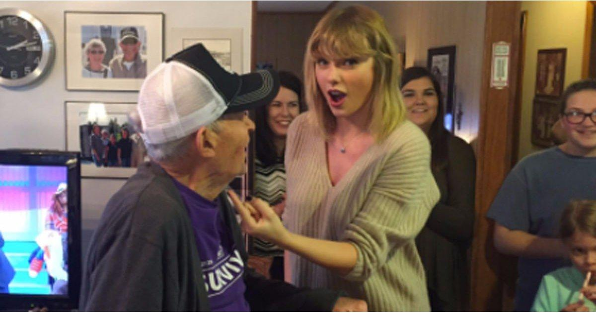 Taylor Swift Gives a 96-Year-Old Veteran the Ultimate Christmas Surprise