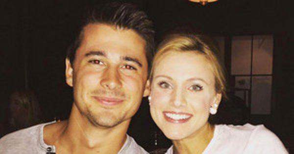 The Bachelor's Ashley Salter Debuts Her Baby Bump While Cele