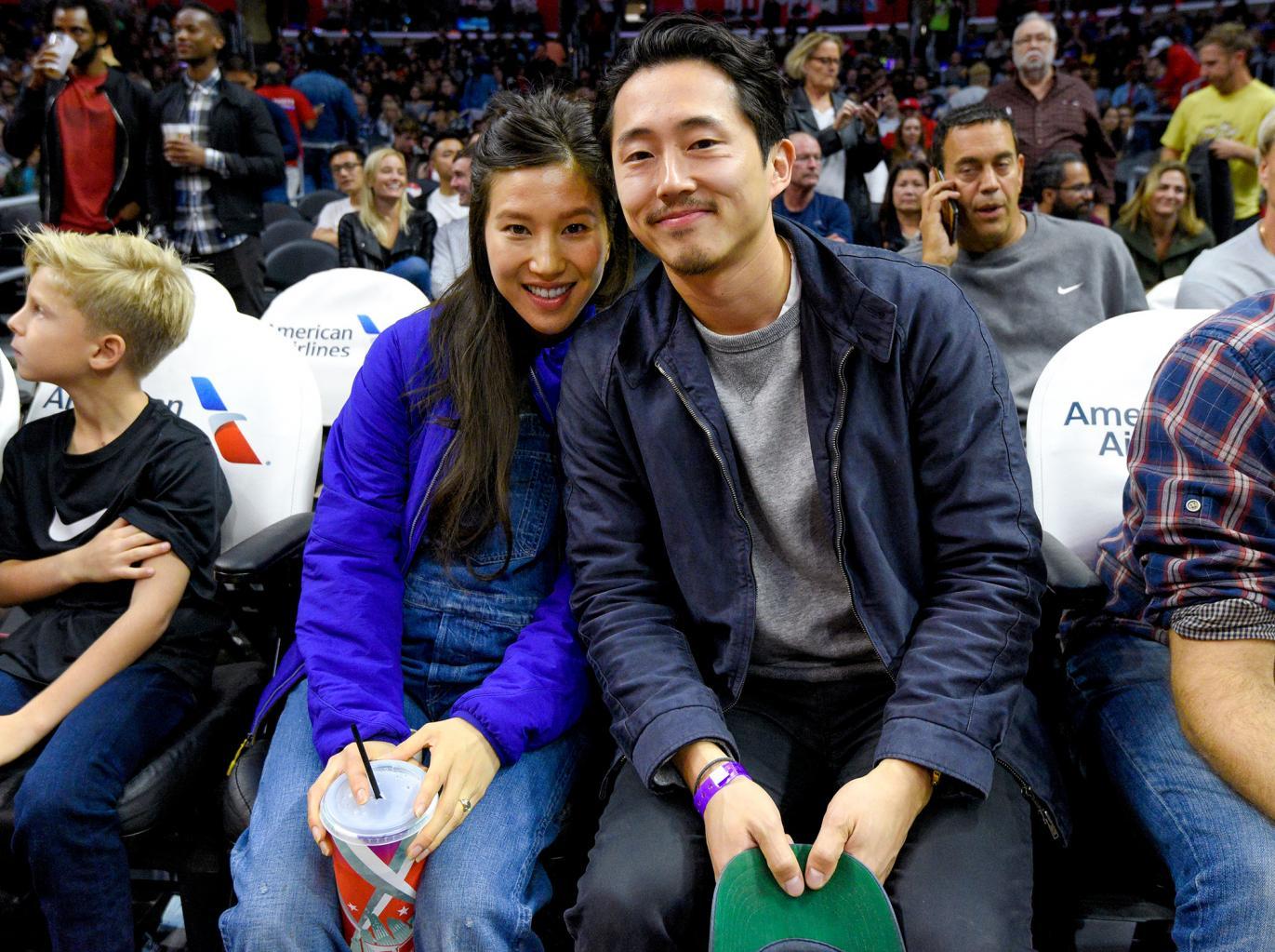 The Walking Dead  's Steven Yeun Marries Girlfriend Joana Pak