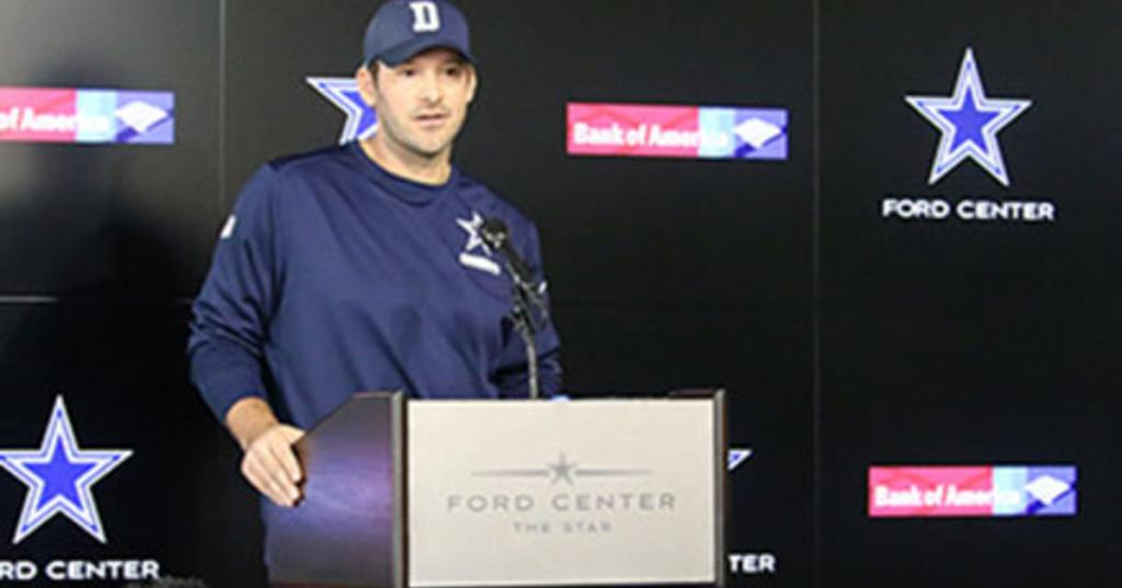 Tony Romo Reads Statement Regarding QB Role