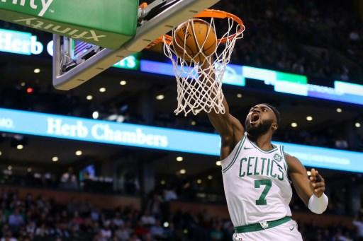 WATCH Scary fall after a dunk by Jaylen Brown of Boston Celtics
