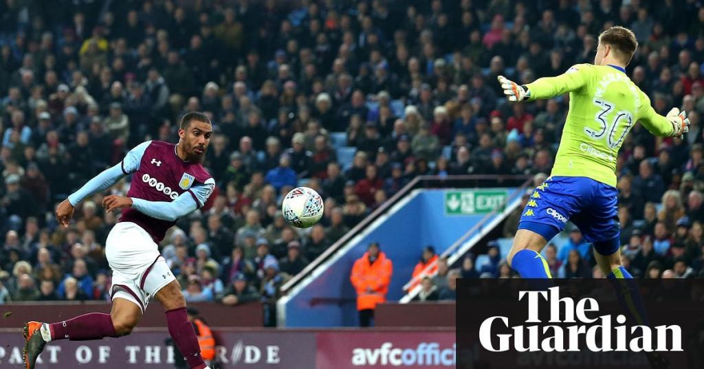 Lewis Grabban gives Aston Villa promotion hope with Leeds goal