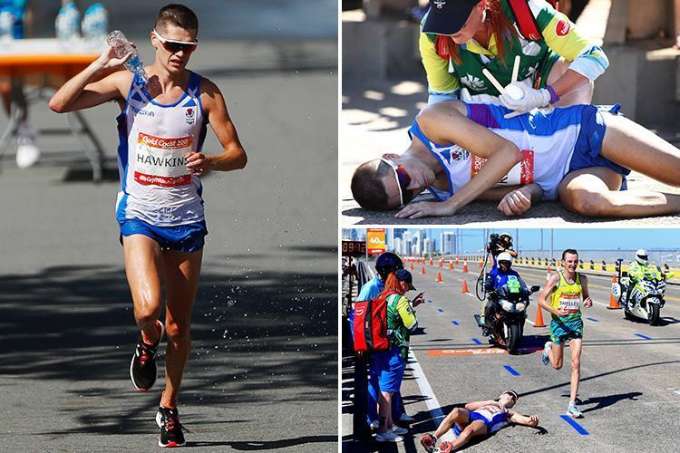 Who is Callum Hawkins Marathon runner who collapsed during the Commonwealth Games 2018 when leading the race