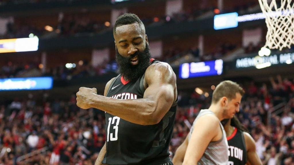 Harden Capela flex on Timberwolves in Game 1 Rockets win