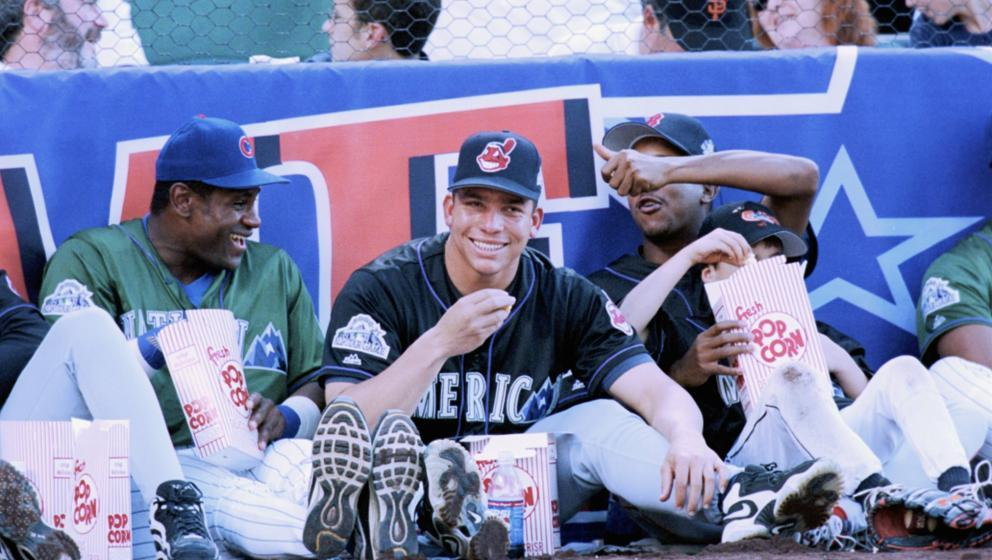 Photo of the Day Bartolo Colon Sammy Sosa and Pedro Martinez enjoying the 1998 Home Run Derby