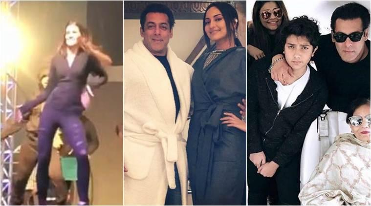 DaBangg Tour Salman Khan Sonakshi Sinha and Kriti Sanon are all geared up for Delhi