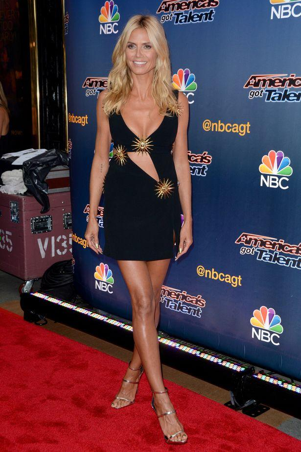 Heidi Klum Dazzles In A Barely-there Black Dress On America's Got