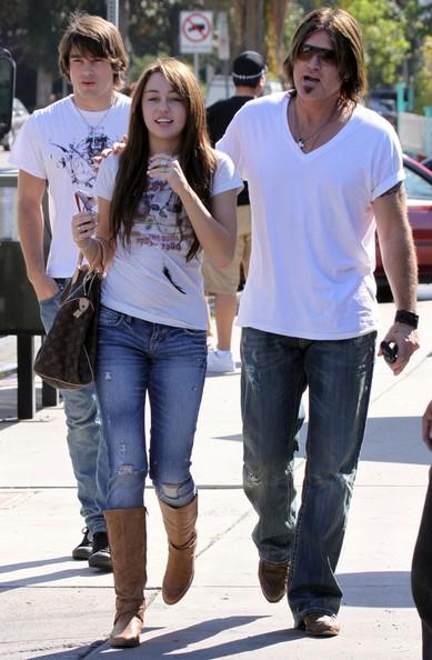Miley Cyrus, Justin Gaston and Billy