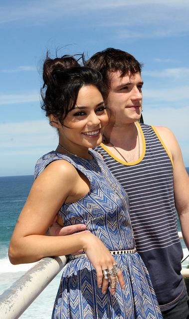 Vanessa Hudgens and Josh Hutcherson Adventure to Bondi Beach , a set