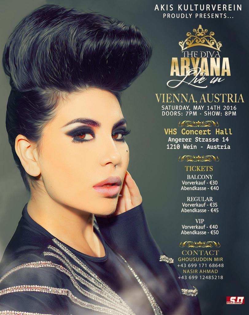 Aryana Sayeed Concert     Vienna, Austria     May 14, 2016   Afghan