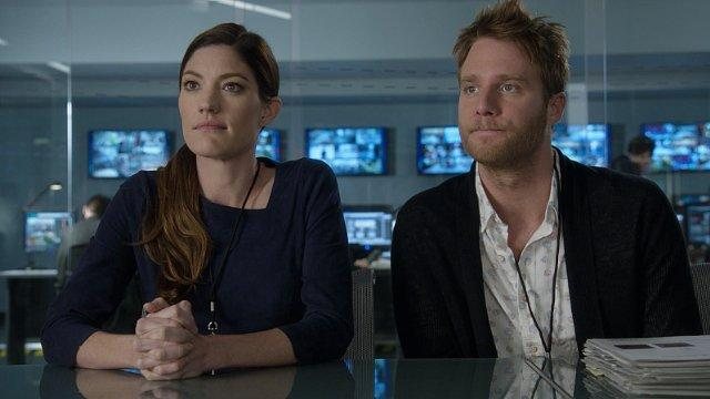 Still of Jennifer Carpenter and Jake McDorman in Limitless (