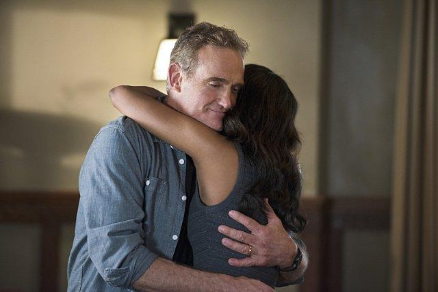 Still of John Wesley Shipp and Candice Patton in The Flash (