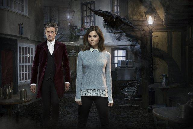 Still of Peter Capaldi and Jenna Coleman in Doctor Who (2005